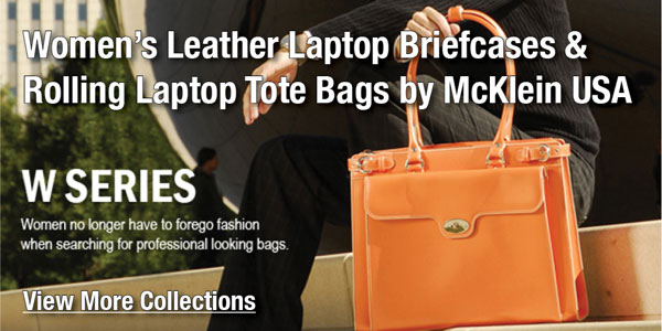 Women's Leather Laptop Bag and Rolling Laptop Cases by McKlein USA