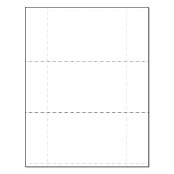 3.5 x 5.5 Postcard Stock Perforated
