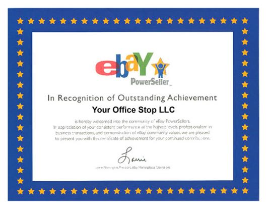 eBay Powerseller - Your Office Stop