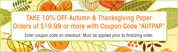 10% Off Thanksgiving Computer and Printer Papers