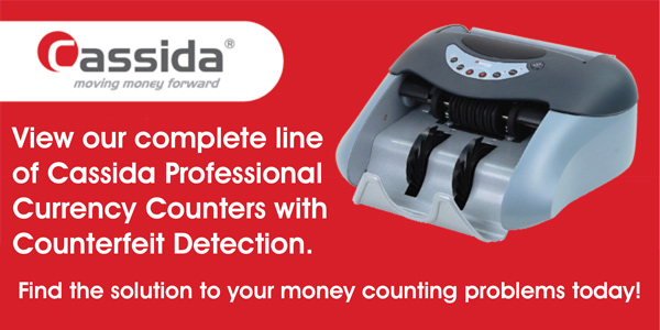 Cassida Money Counters with Counterfeit Detection