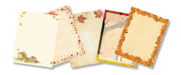 Thanksgiving, Autumn & Fall Paper Stocks