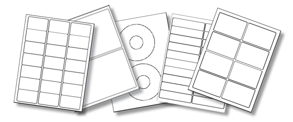 Blank Laser and Inkjet Printer Labels