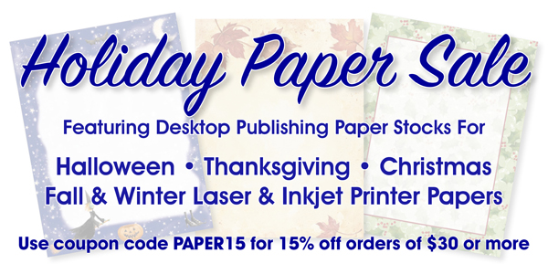 Printed Border Paper for Computer Laser Printers and Ink Jet Printers