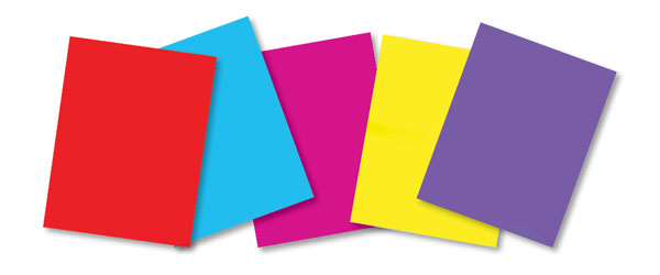 Solid Color Bright and Pastel Paper Stocks