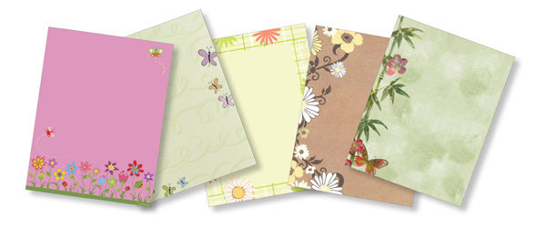 Spring Paper Stocks - Flower Paper Stocks - Floral Paper Stocks