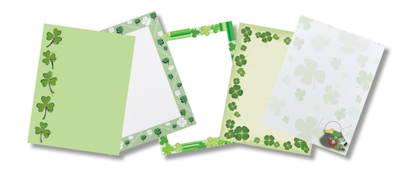 St. Patrick's Day Paper - St. Patty Printer Paper - St. Patricks Day Computer Paper