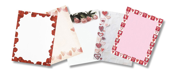 Valentine's Day Paper Stock